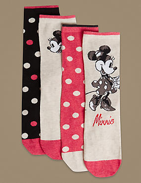 4 Pair Pack Mickey Ankle High Socks, OATMEAL MIX, catlanding