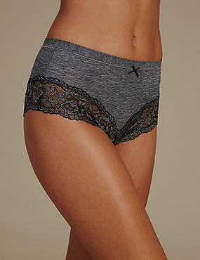 No VPL Lace Brazilian Knickers