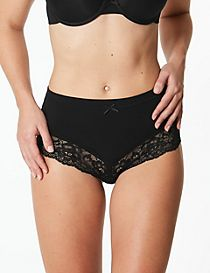 Cotton Rich High Waisted Brazilian Knickers