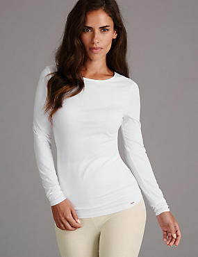 Long Sleeve Vest Top with Modal
