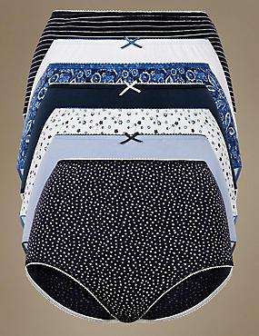7 Pack Cotton Rich Full Briefs, BLUE MIX, catlanding