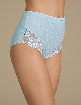 Cotton Rich Lace High Rise Full Briefs