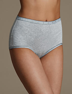 Cotton Rich Jacquard Waist Full Briefs