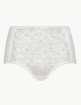 Cotton Blend Front Lace Full Briefs