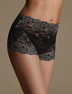 Two Tone All Over Lace Full Briefs