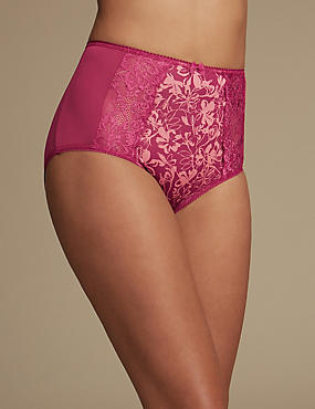 Jacquard & Lace Full Briefs