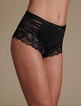 Isabella Lace High Waist Full Briefs
