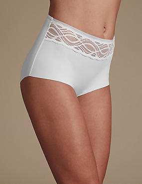 No VPL Curve Smooth Lines Full Briefs, WHITE, catlanding