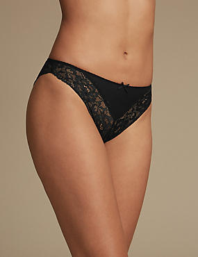 Lace High Leg Brazilian Knickers