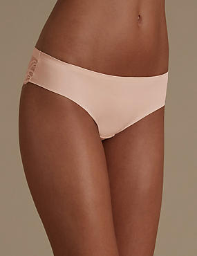 Smooth Lines Brazilian Knickers, ALMOND, catlanding