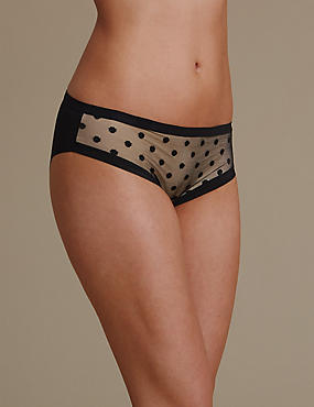 No VPL Spotted Brazilian Knickers