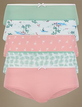 5 Pack Cotton Rich Low Rise Shorts
