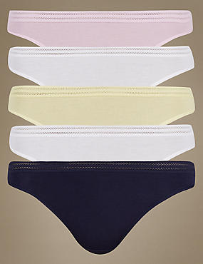 5 Pack No VPL Thongs, LILAC MIX, catlanding