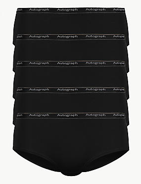 5 Pack No VPL Low Rise Shorts , BLACK, catlanding