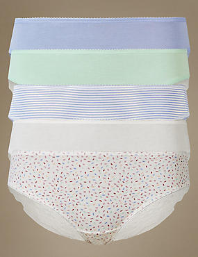 5 Pack Cotton Rich Brazilian Knickers