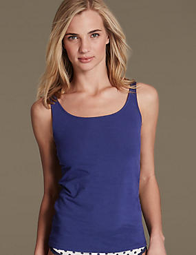 Cotton Rich Vest with Built Up Shoulder