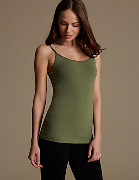 Soft Touch Cotton Rich Strappy Neck Vest with New & Improved Fabric