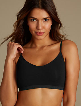Cotton Rich Strappy Bralet