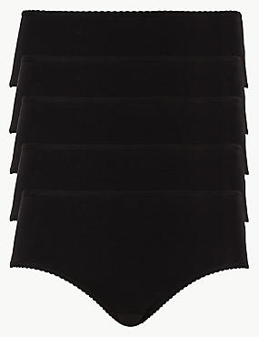 5 Pack Cotton Rich Midi Knickers with New & Improved Fabric