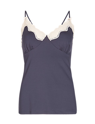 Lace Empire Line Camisole Clothing