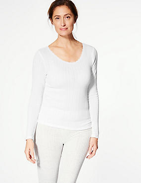 2 Pack Thermal Long Sleeve Pointelle Tops