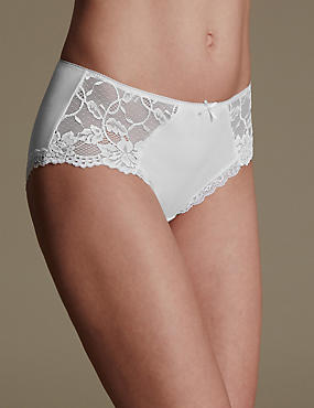 Side Lace High Rise Midi Knickers