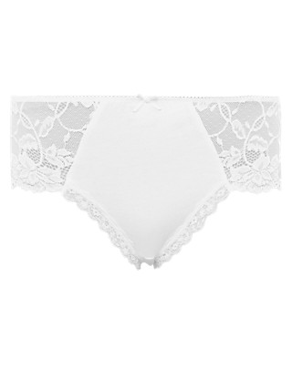 Lace High Rise Midi Knickers Clothing