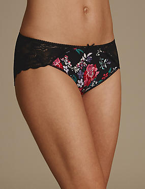 Lace Wrap High Leg Knickers
