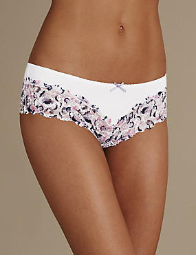 Isabella Grown on Lace Trim Brazilian Knickers
