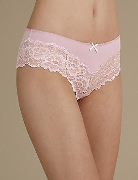 Isabella Grown on Lace Marl Brazilian Knickers
