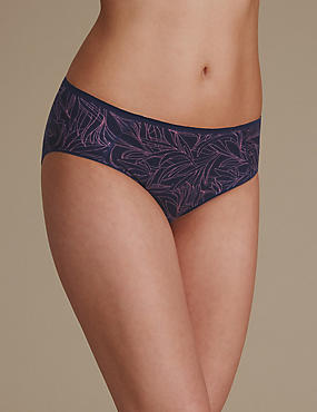 Sumptuously Soft Printed No VPL High Leg Knickers