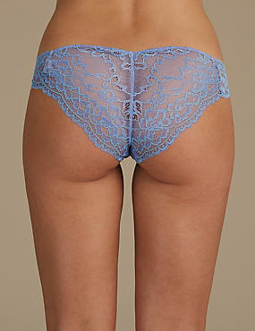 Lace Brazilian Knickers, , catlanding