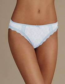 2 Pack Cotton Rich High Leg Knickers