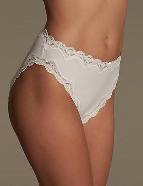 Cut-Out Lace High Leg Knickers