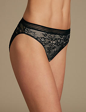All Over Lace High Leg Knickers