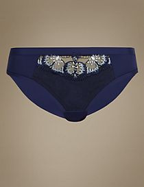 Floral Embroidered Brazilian Knickers