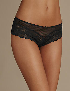 Fishnet Isabella Lace Brazilian Knickers