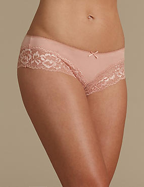No VPL Cotton Blend Brazilian Knickers