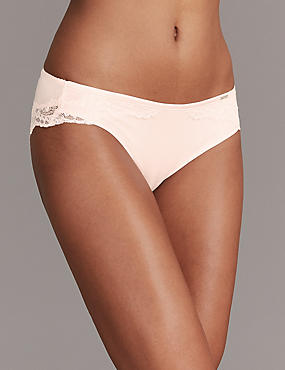 Lace High Leg Knickers with Cashmere