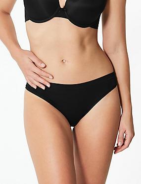 Modal Rich Flexifit™ Bikini Knickers, BLACK, catlanding