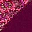 Cotton Blend Side Lace Thong, MAGENTA MIX, swatch