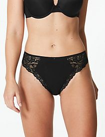 Cotton Blend Side Lace Thong