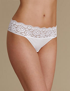 Vintage Lace Waist Thong