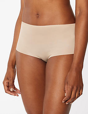 No VPL High Rise Shorts, ALMOND, catlanding