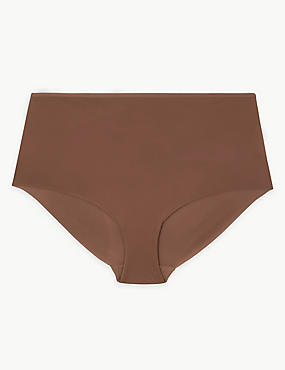 No VPL High Rise Shorts, BROWN, catlanding