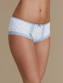 2 Pack Cotton Rich Low Rise Shorts