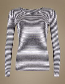 Heatgen™ Thermal Long Sleeve Striped Top