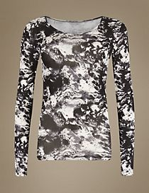 Heatgen™ Printed Thermal Long Sleeve Top