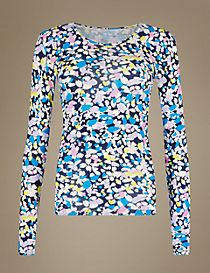 Heatgen™ Thermal Long Sleeve Printed Top