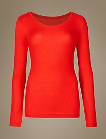 Heatgen™ Ribbed Thermal Long Sleeve Top